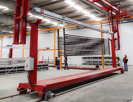 eloksal kaplama tesisi vinç sistemleri transfer arabası